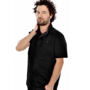EGO casacca  nera, Da barbiere  o parrucchiere , candeggiabile taglia unica