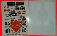 RC DECALSFORD RANGER + WHITE PANELS WILL FIT MUST 1/10th RC TAMIYA KYOSHO
