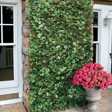Artificial Maple Leaf Ivy Expanding Willow Trellis Garden Fence Screening 1 x 2m