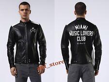 NWT Diesel L-FYFE Mens MOTORCYCLE Leather BIKER Black Jacket XXL XX-LARGE $898