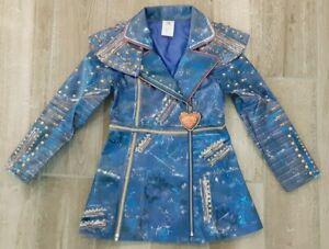 Disney Descendants 2 Evie Blue Faux Leather Jacket ONLY Costume Size 7/8