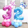 32'' 0-9 Number Foil Balloons Digit Helium Ballons Birthday Wedding Party Decor