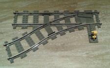 Lego City Eisenbahn Schienen Weiche links 9V 4531 old dark gray bricktrain