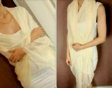 2 pcs Women Ladies Long Chiffon scarf cover wrap 162cm x 70cm Nylon NEW Cream
