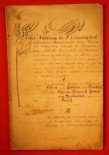 Dreseden/Kamenz 1843-Ablösungsvertrag mit Beglaubigungs-Urkunde betr.46 Parteien