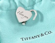 Tiffany & Co Silver I LOVE YOU Heart Padlock Pendant Charm 4 Necklace Bracelet