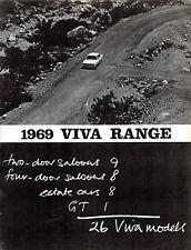 Vauxhall Viva HB 'Vivarama' 1969 UK Market Foldout Brochure 90 1600 Brabham GT