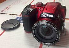 Nikon COOLPIX B500 16MP Wi-Fi WIFI Digital Camera w/ 40x Optical Zoom Lens Red