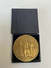 Iceland Medallic 1000 Years Althing Bronze 2 Kronur 1930 UNC in Original Box