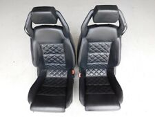 Lamborghini Gallardo Spyder LP560 2010 Black Leather Power Seats Pair J109