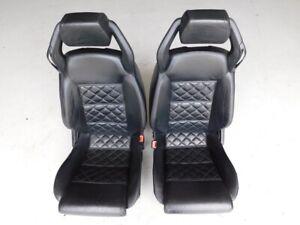 Lamborghini Gallardo Spyder LP560 2010 Black Leather Power Seats Pair J109