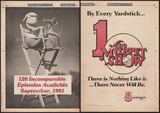 THE MUPPET SHOW - #1__Original 1980 Trade print AD / poster__Kermit__Jim Henson