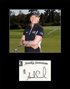LPGA Golf Legend Annika Sorenstam Signed Autograph And Photo Matted 11x14