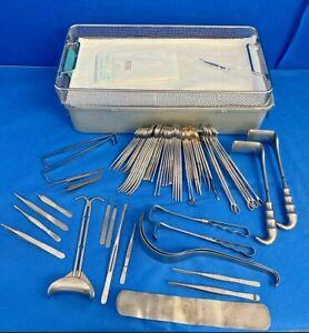 66 Piece Jarit C-Section L&D Instrument Set w/ Aesculap Sterilization Case OBGYN