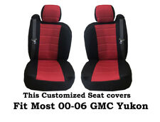 Black/Red Mesh Fabric Customized seat covers Fit's 00-06 GMC Yukon.