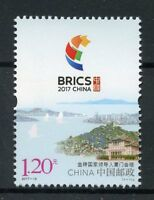 China 2017 MNH BRICS Xiamen Summit 1v Set Politics Tourism Landscapes Stamps