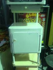 Vintage industrial French hospital bedside table cabinet 1930s # white