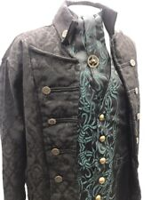 "Raven 4pcs SteampunkJacket,waistcoat,cravat,Tie pin, Outfit To Fit 42"" Chest"