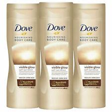 3x Dove Visible Glow Medium-Dark Self Tan Lotion 250ml - Pack of 3