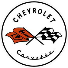 "#k322 (1) 3.75"" Chevrolet C1 Chevy Corvette  Decal Sticker Laminated"