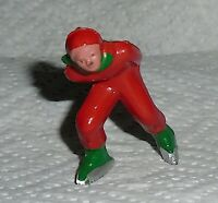 "VINTAGE Barclay Lead ""Man Speed Skater, In Red, Green Trim"" B180 Near Mint F/S C"