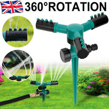 Automatic 360 Rotating Garden Lawn Water Sprinklers 3 Arms Sprayer Irrigation UK