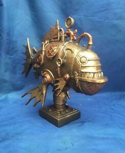 Steampunk Perpetual Piranha Figurine Nemesis Now New Boxed Ornament Marine