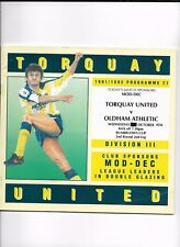 TORQUAY UNITED V OLDHAM ATHLETIC 9/10/1991 LEAGUE CUP 2ND ROUND 2ND LEG  (4)