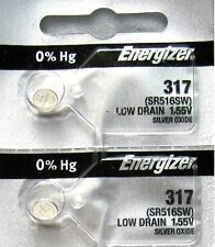 317 Watch Battery SR516SW SR516W Energizer x 2