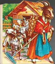 Le loup et les sept chevreaux Der Wolf..Bilderbuch französisch! 50-er Jahre Top!