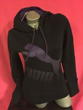 Nwt Puma Black And Purple Long Sleeved Hooded Hoodie Size XS