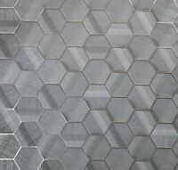 Lamborghini Hexagon Charcoal gray bronze metallic textured Wallpaper Geometric