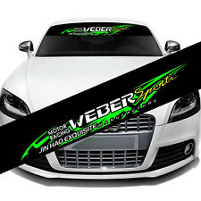 1PC Personality JDM Style Weber Banner Windshield Vinyl Car Sticker Decal