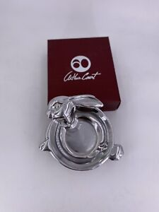 Arthur Court Silver Aluminum Baby BUNNY KEEPSAKE BOWL  New In Box 10-4056 Easter