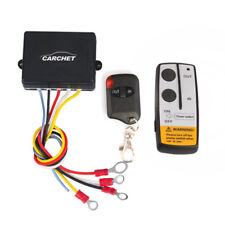 12V 50ft Winch Wireless Remote Control Set for Truck Jeep ATV Warn Ramsey Tuff
