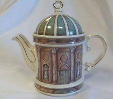 The National Trust Teapot. Temple of Apollo.Stourhead. Wiltshire. Gold Details