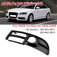 Front Left Side Fog Light Grille Cover Grill Fit For AUDI A4 Sline B7 2005-2008