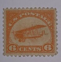 TRAVELSTAMPS: 1918 US STAMPS AIRMAIL SCOTT # C1 MINT OG HINGED CURTISS JENNY