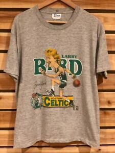VTG 80s Salem Larry Bird Caricature Big Head Celtics SINGLE STITCH T Shirt L/XL
