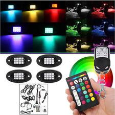 4x Bunt RGB LED Unterboden Lampe Zierlampe Auto Kfz 12V Universal Fernbedienung