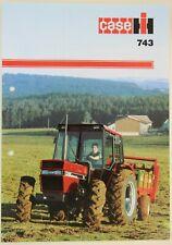 prospectus brochure tracteur CASE IH 743 tractor traktor trattore prospekt