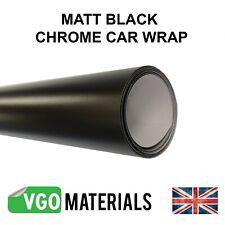 Vgoltd Negro Cromo Satinado Mate Vinilo Coche Moto Vehículo Envoltura de liberación de aire