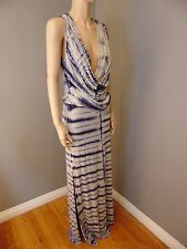 Size M Medium $262 Young Fabulous and Broke YFB Maxi Dress Tie Dye Ombre Drape