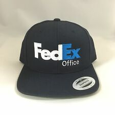 FedEx Office Snapback Hat  Yupoong Custom Embroidery Adjustable Cap Dark Navy