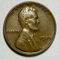 1939 Lincoln - Wheat Ears Reverse 1 Cent Circulated Coin   (1665)