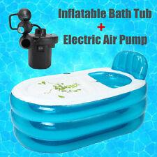 Portable Inflatable Bathtub Thickening Washbowl Tub Adult Swimming Pool +  Pump