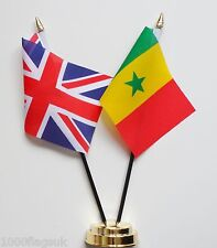 United Kingdom UK & Senegal Friendship Table Flag Set