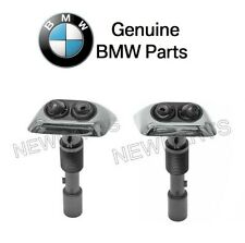 BMW E38 740i 740iL Set Of Left and Right Chrome Headlight Washer Nozzle Genuine