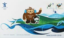Canada Stamps, First Day Cover, Vancouver 2010 Olympic Mascots - 12/1/2009