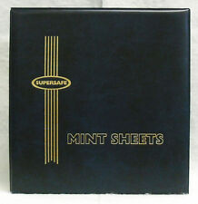 SUPERSAFE : DELUXE MINT SHEET  ALBUM - HOLDS 100 - BLACK COVER    #SS-MA1BLK